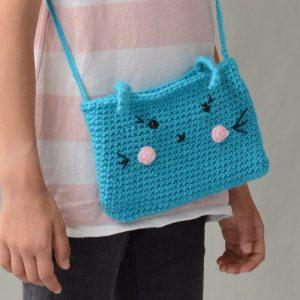 Kit crochet sac lapin bleu